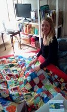 Becky and the wedding quilt