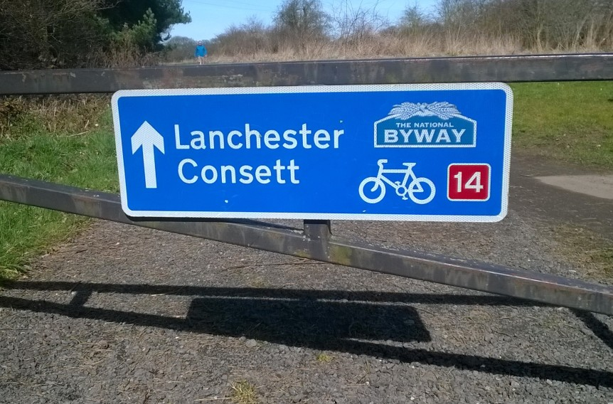 Lanchester Byway sign
