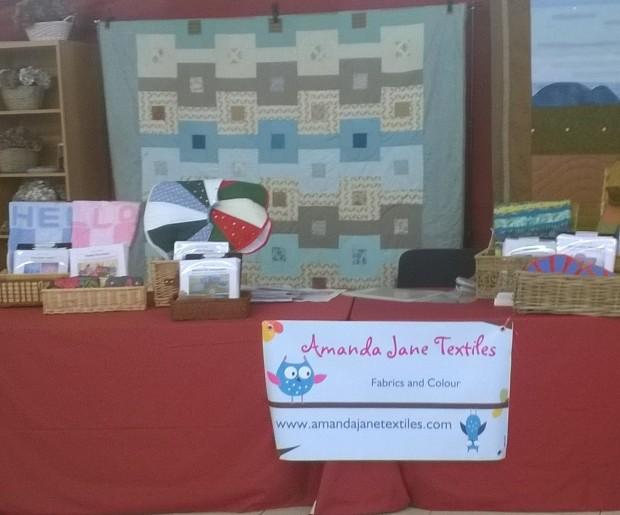 Amanda Jane Textiles display