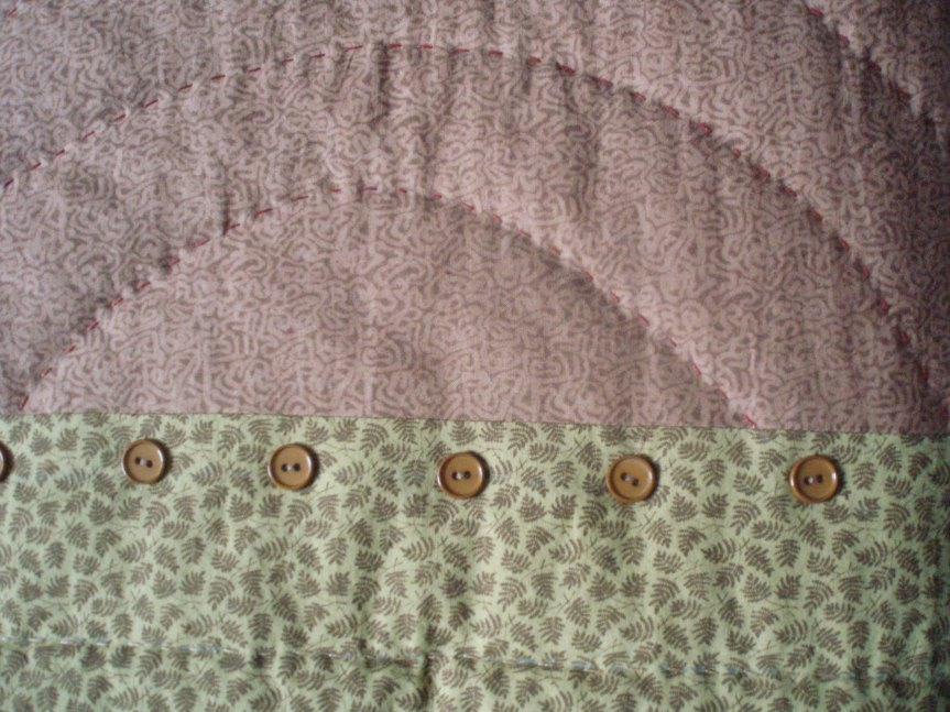 Quilting with buttons