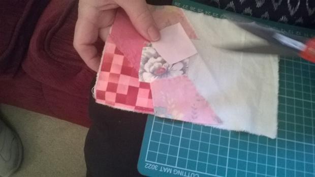 Hand-stitched patchwork