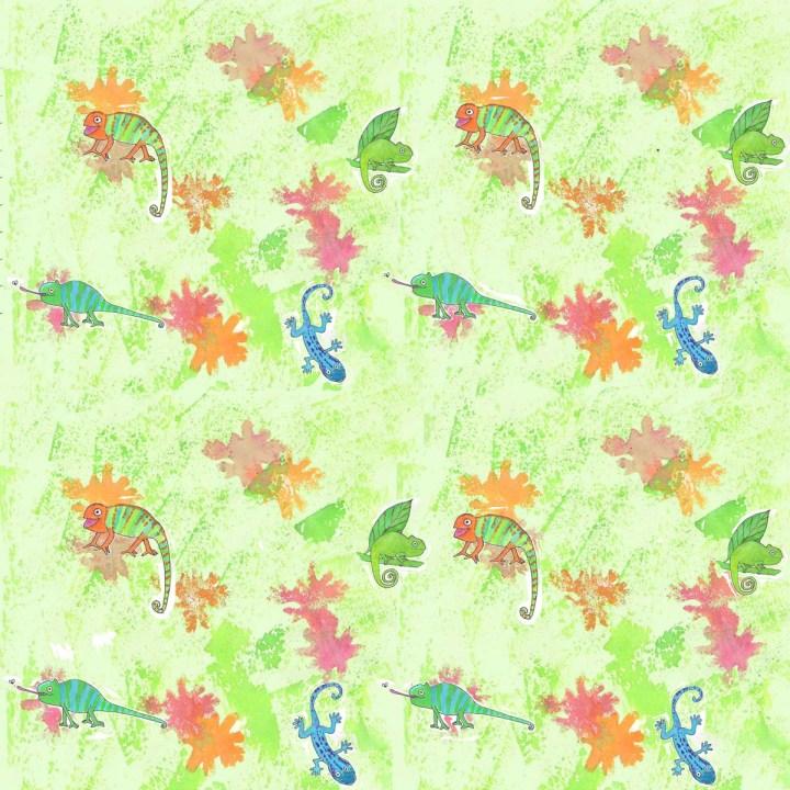Cheerful Chameleons by Amanda Jane Textiles