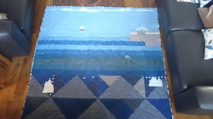 The 'dolphin' birthday quilt