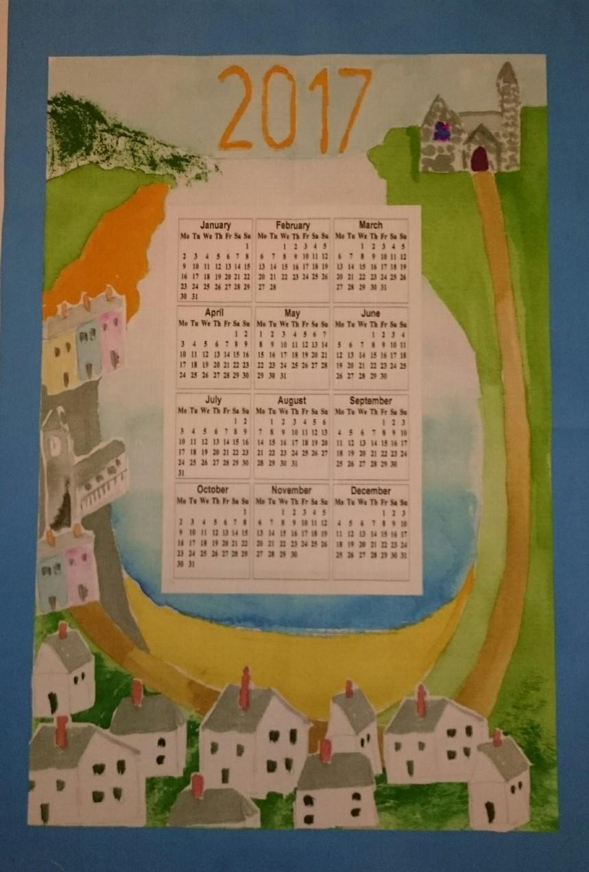 Calendar for 2017, designed by Amanda Ogden