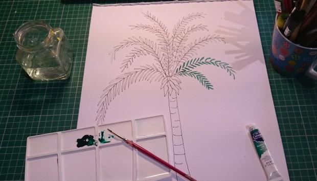 palm-tree drawing by Amanda Ogden