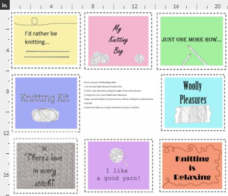 Knitting bag labels
