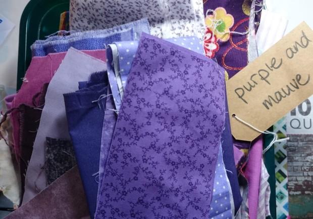 Purple and mauve colour basket