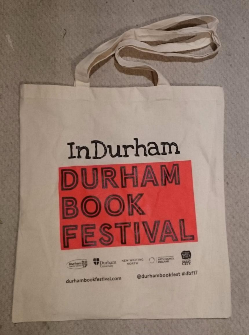 Durham Book Festival 2017 calico bag
