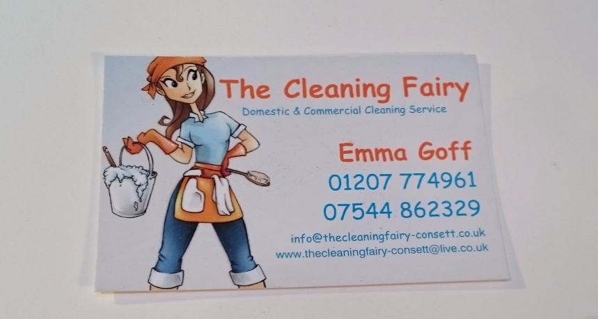 'The Cleaning Fairy' business card