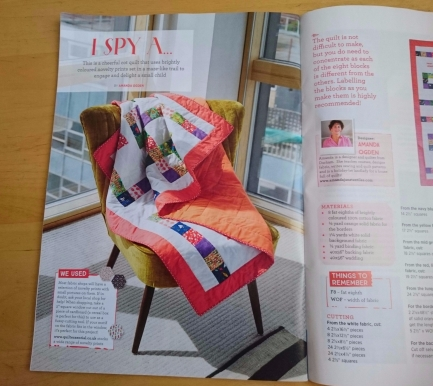 'I Spy A...' cot quilt pattern in Quilt Now, Issue 41