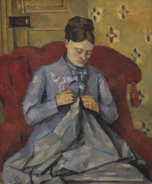 Madame Cezanne Sewing 1877