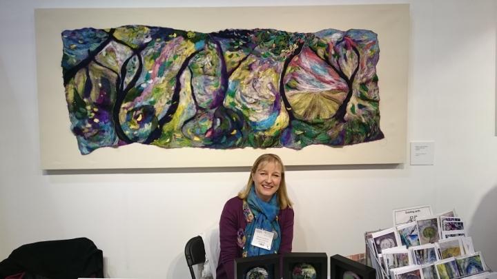 Michala Gyetvai at the Knitting and Stitching Show Edinburgh, 2016, photo by Amanda Jane Textiles