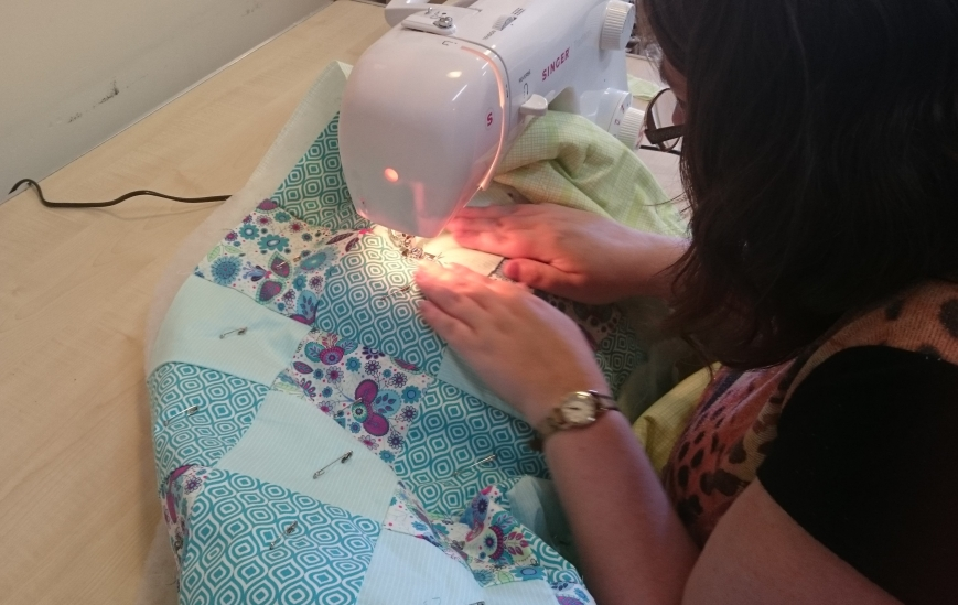 Quilting on the machine