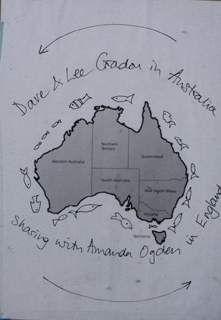 Australia map from sketchbook
