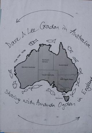 Australia map from sketchbook