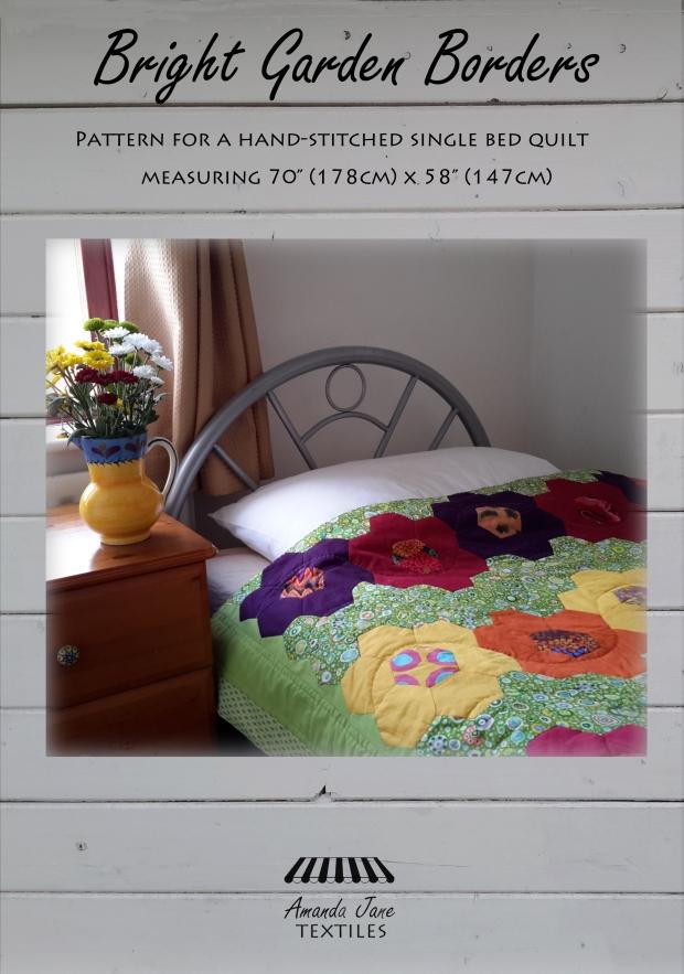 Bright Garden borders quilt pattern from Amanda Jane Textiles