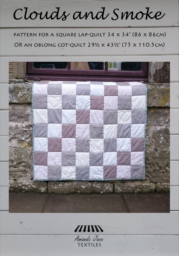 Clouds and Smoke, cot quilt, lap quilt, cover, by Amanda Jane Textiles.jpg