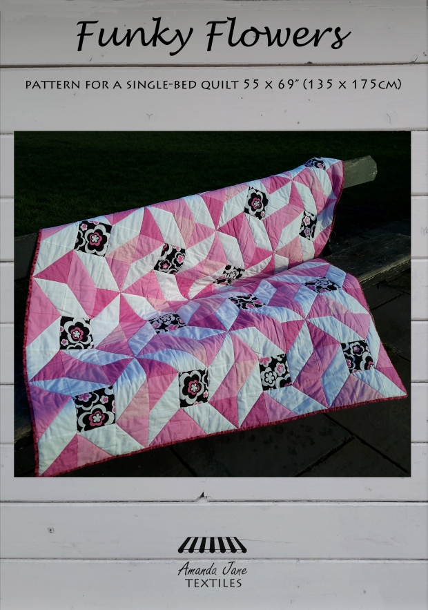 Funky Flowers pattern, cover, by Amanda Jane Textiles.jpg