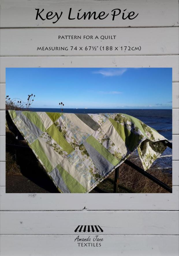 Key Lime Pie double quilt pattern, cover, by Amanda Jane Textiles