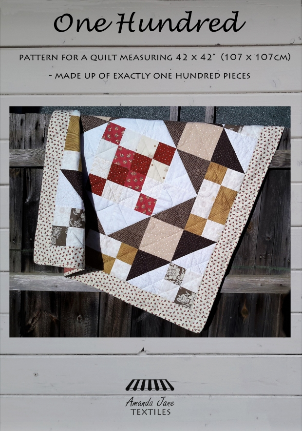 One Hundred lap quilt pattern, cover, by Amanda Jane Textiles.jpg