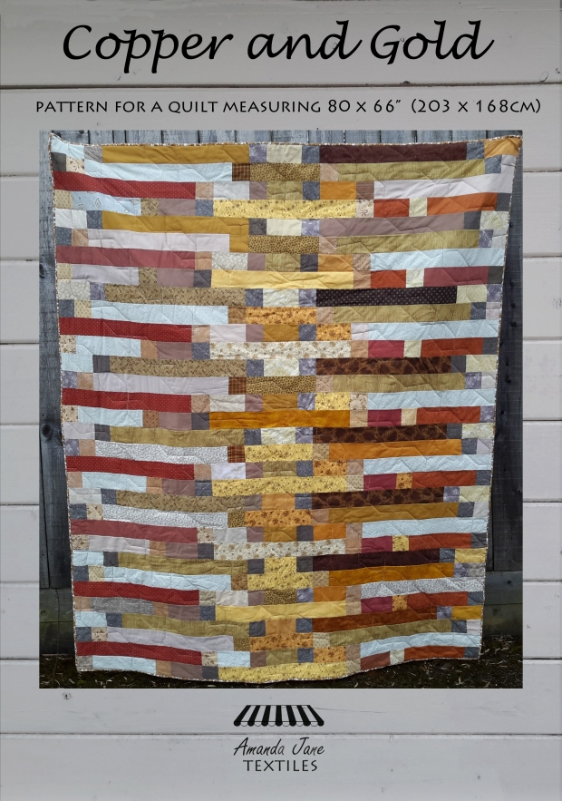 Copper and Gold quilt pattern, by Amanda Jane Textiles cover.jpg