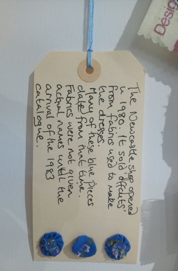 Label from an art-work by Kath Price in the 'Threads' exhibition at the Frederick Street Gallery, Sunderland
